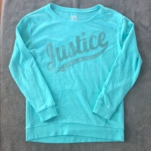 Girls Justice sweatshirt size 12/14